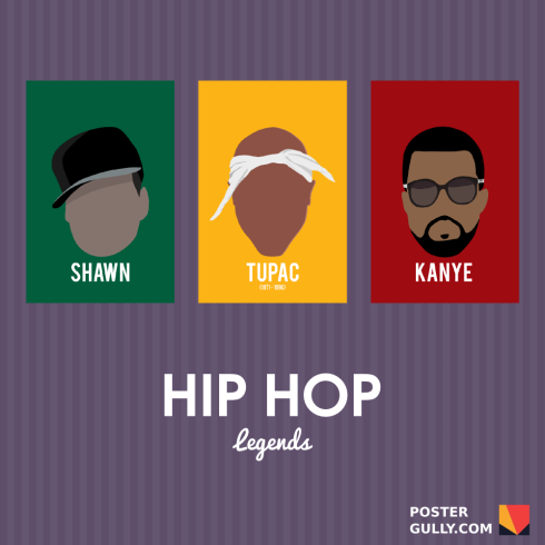 Hip Hop & Sports Icons Minimal Art