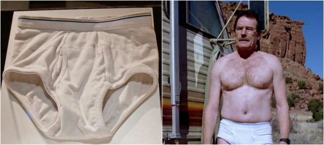 1) Walter White's 'tighty-whities' sold for nearly $10,000