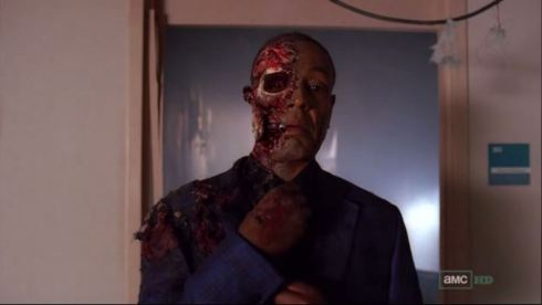 5) Breaking Bad took help from The Walking Dead's make-up artists for Gus Fring's death scene.